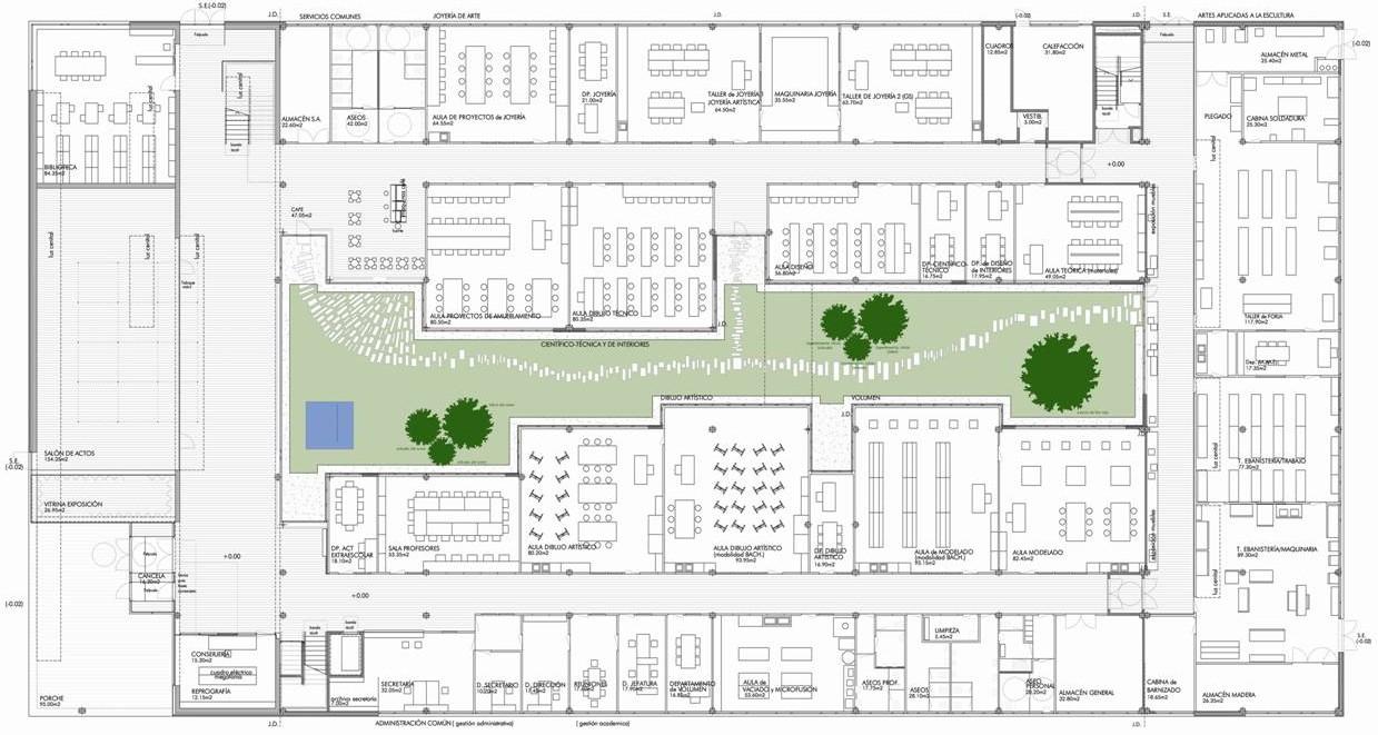 Escuela for Plantas de colegios arquitectura